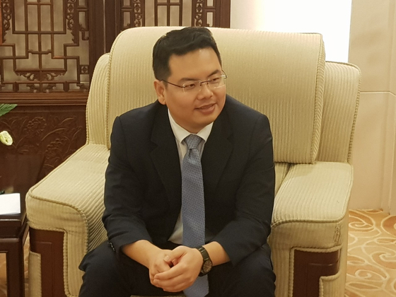 중국 외교부 내 지한파인 당량(唐亮) 아시아국 동북아시아과 부처장. 조진형 기자