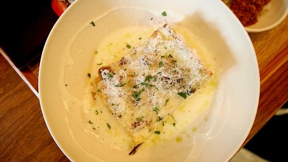고소한 화이트 크림과 생면 특유의 식감, 푸짐한 고기를 함께 즐길 수 있는 몬타냐.