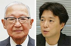 세키다 히로오(左), 오기소 켄(右)