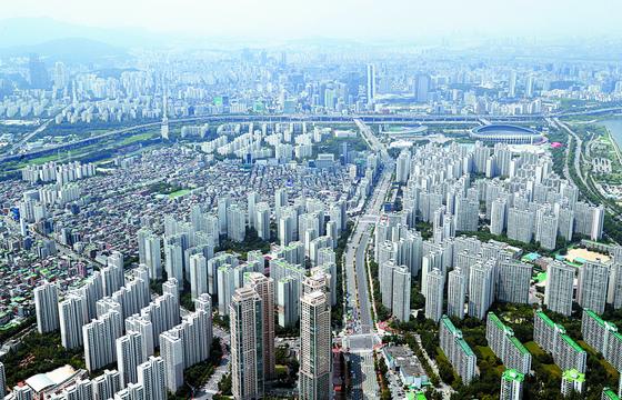 전세 수요가 많은 서울 송파구 일대 아파트 단지. <연합뉴스>
