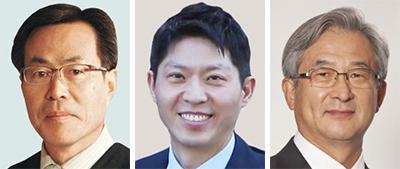 금종해, 손훈, 권오곤(왼쪽부터).