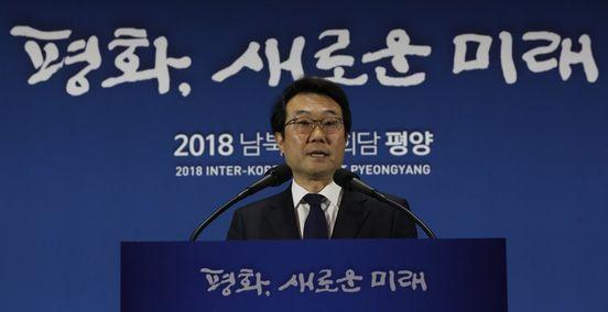 북핵 성과 설명하는 이도훈 외교부 한반도평화교섭본부장 [연합뉴스]