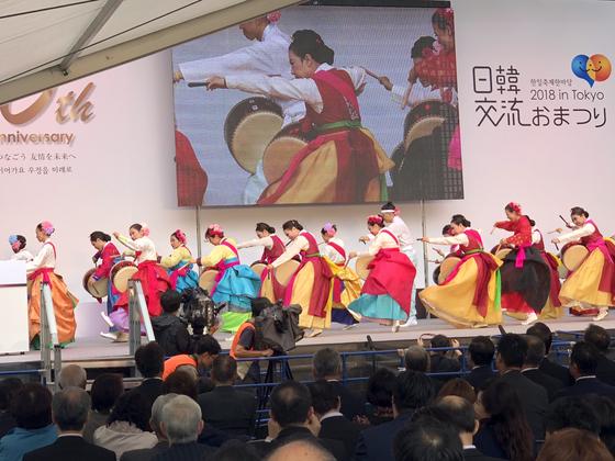 일한연맹회장 누카가입니다…도쿄 한일축제 한국어로 시작