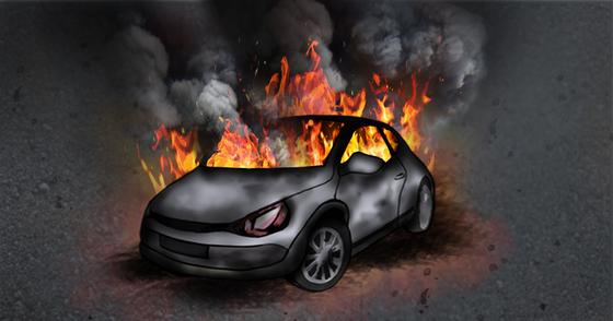 남해고속도로 달리던 BMW 520d 차량서 불…인명피해 없어