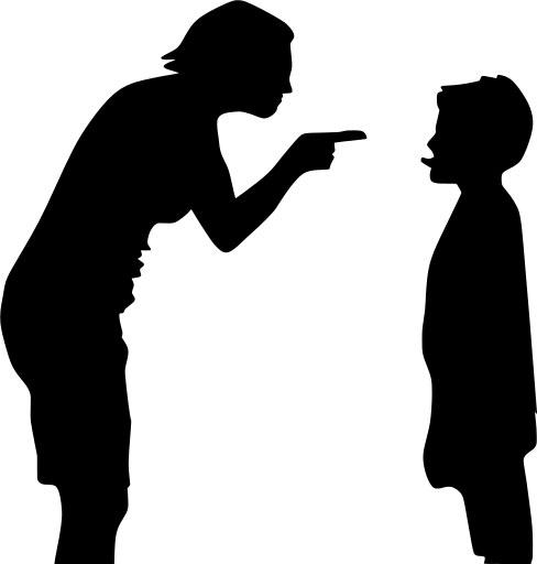 부모가 본인의 감정 표출을 먼저 하면 아이에게 어떤 영향이 있을까? [사진 svgsilh]