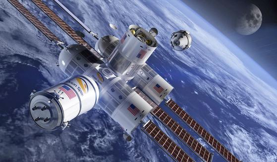 우주 신생 벤처 오리온스팬사는 지난 4월 '스페이스2.0 서밋'에서 우주 호텔 오로라스테이션(상상도)을 발표했다. [사진=오리온스팬]