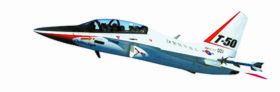 KAI가 록히드마틴과 공동 개발한 T-50. [사진 KAI]