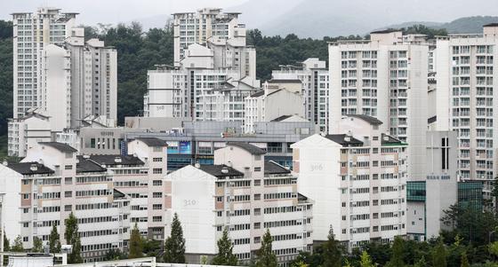 성남시 분당구의 건강수명이 전국 시군구중 가장 긴 것으로 나타났다. 분당구 아파트 밀집 지역 전경.[뉴스1]