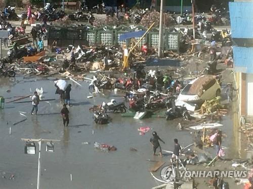 지진 쓰나미 피해가 발생한 인도네시아 술라웨시섬의 팔루. [AP=연합뉴스]