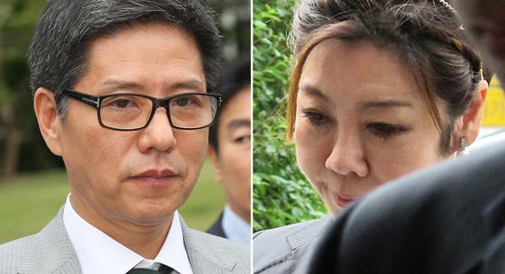 오리온그룹 담철곤 회장(왼쪽)과 담 회장의 아내인 이화경 부회장. [연합뉴스]