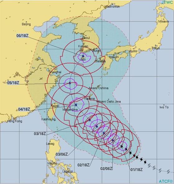 [사진 미국합동태풍경보센터(JTWC)]