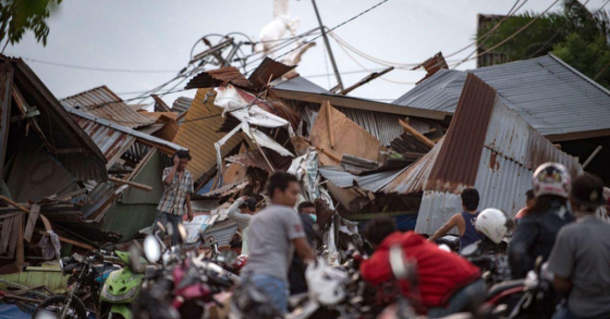 지진-쓰나미 피해를 본 인도네시아 술라웨시섬. [AFP=연합뉴스]