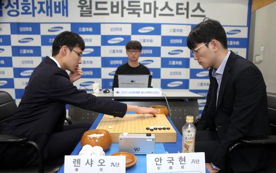 한국 선수 가운데 유일하게 삼성화재배 준결승에 오른 안국현 8단. [사진 사이버오로]