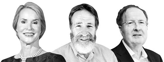노벨화학상 수상자로 선정된 프랜시스 아널드, 조지 스미스, 그레고리 P. 윈터 (왼쪽 부터)