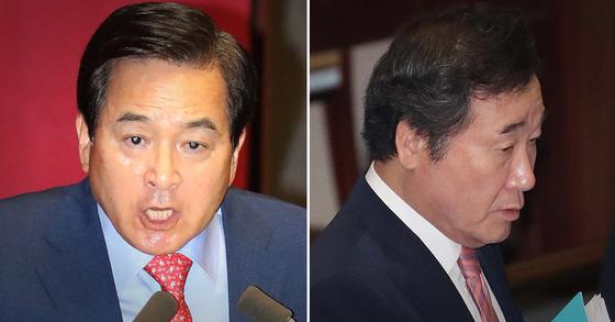 심재철 자유한국당 의원(왼쪽), 이낙연 국무총리. [연합뉴스, 뉴스1]