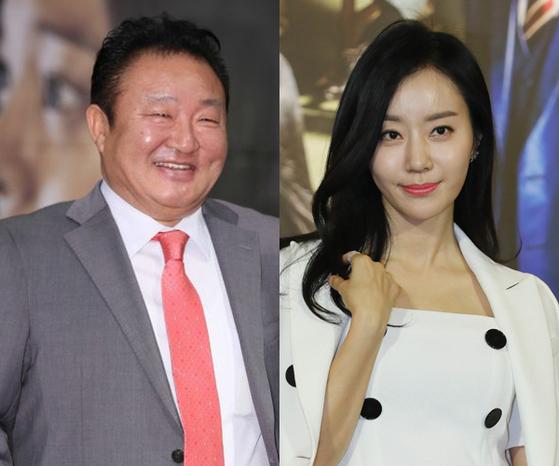 배우 이재포(왼쪽)와 반민정. [중앙포토]