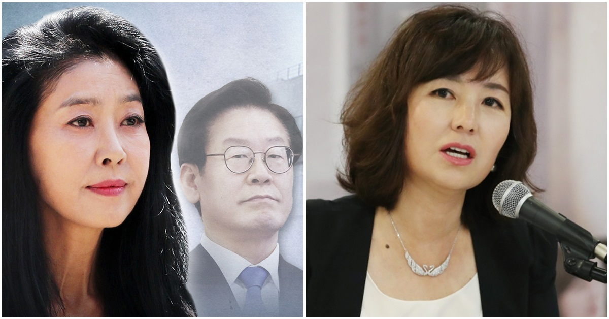 왼쪽부터 배우 김부선씨와 이재명 경기지사. 공지영 작가. [연합뉴스]