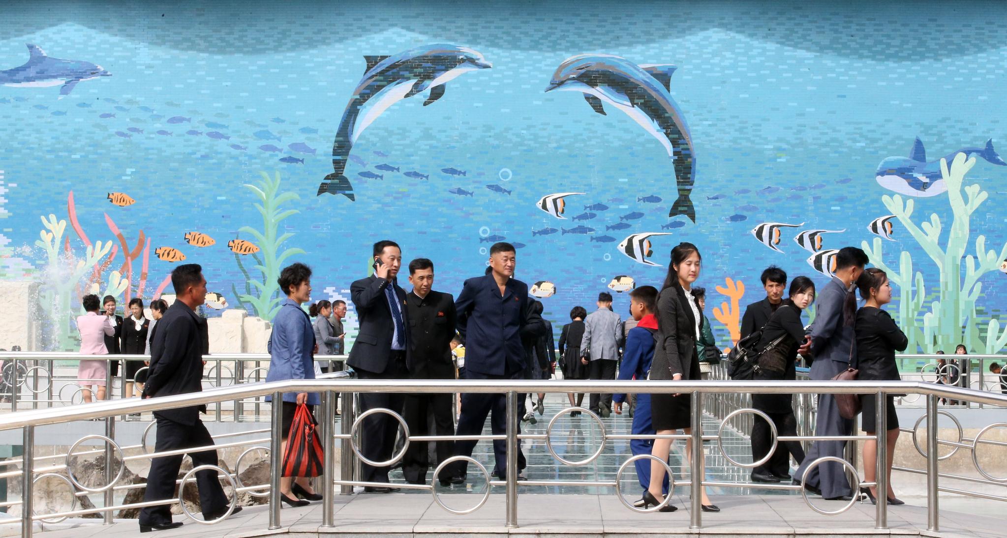 관람객들이 지난 6일 평양 중앙동물원을 둘러보고 있다. 평양사진공동취재단