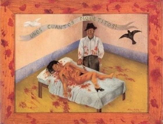 프리다 칼로, <몇 번 찔렀을 뿐>, 1935년, 돌로레스 올메도 컬렉션. [사진 허유림]