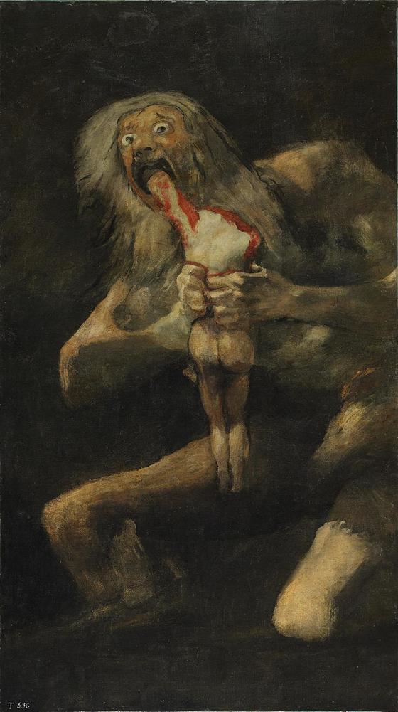 프란시스코 고야, <아들을 잡아 먹는 사투르누스>, 1819-1823. ⓒ퍼블릭 도메인. [사진 위키미디아 커먼]