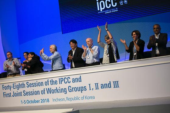 제48차 IPCC 총회에서 '지구온난화 1.5도' 특별보고서가 최종 승인됐다. [사진 IISD/ENB, Sean Wu]