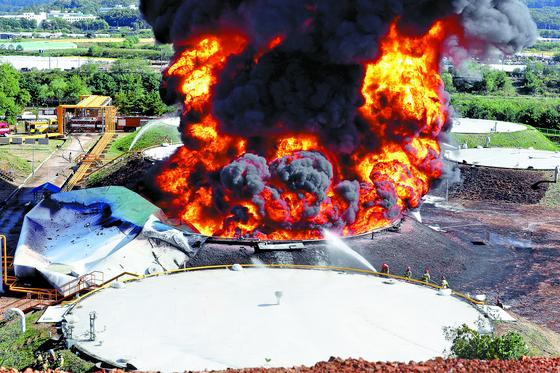 고양 저유소 탱크 폭발, 서울까지 유독가스