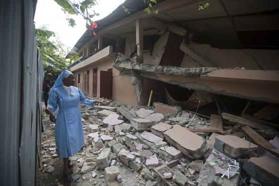 아이티 지진. [AP=연합뉴스]