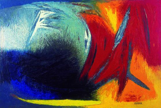 유영국, 'Work',(1962, oil on canvas, 130*194cm, 개인소장).[사진 국제갤러리]