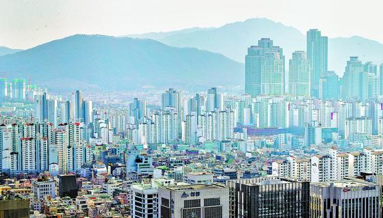 강남 일대의 아파트 단지 모습. [연합뉴스]
