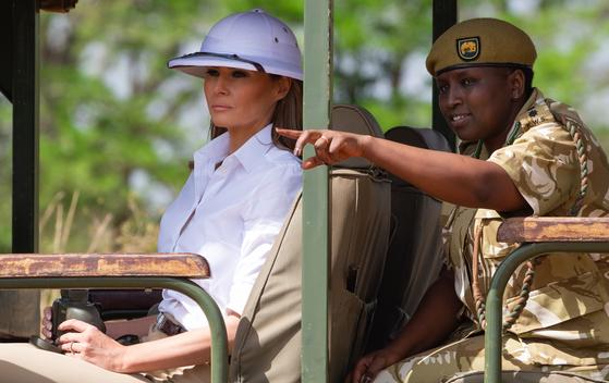 지난 5일(현지시간) 나이로비를 방문한 멜라니아 트럼프 [AFP=연합뉴스]
