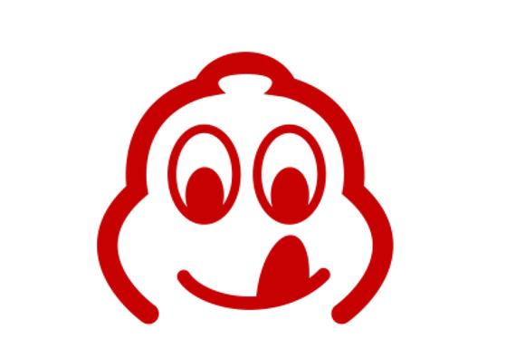 미쉐린의 마스코트 비벤뎀이 입맛을 다시는 픽토그램으로 표시하는 '빕 구르망'. [미쉐린코리아]