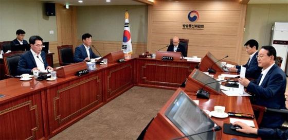 방송통신위원회 전체회의. [사진 연합뉴스]