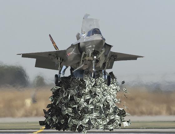 한 네티즌이 F-35의 가격 상승을 비난하면서 만든 그래픽.