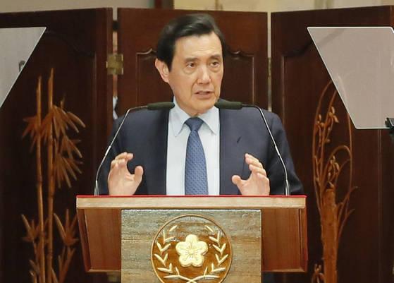 차이잉원 총통의 전임인 마잉주 전 대만 총통은 친중 성향이었다. [AP=연합뉴스]