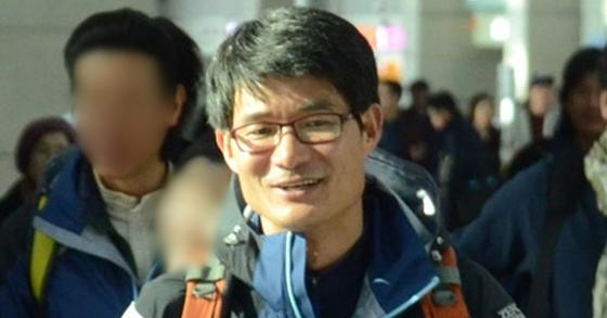 2013년 아시아 최초로 히말라야 8000m급 14좌 무산소 등정을 위해 출국하는 김창호 대장. [연합뉴스]