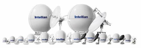 세계 시장에서 해상용 위성통신 안테나로 1등을 달리고 있는 인텔리안테크놀로지스의 제품 포트폴리오. [사진 인텔리안테크놀로지스]