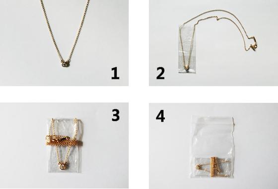 목걸이 보관하는 방법. [사진 민은미]