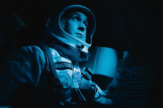 라이언 고슬링은 '퍼스트맨'에서 아폴로 11호의 우주인 닐 암스트롱을 연기한다. [사진 UPI코리아]