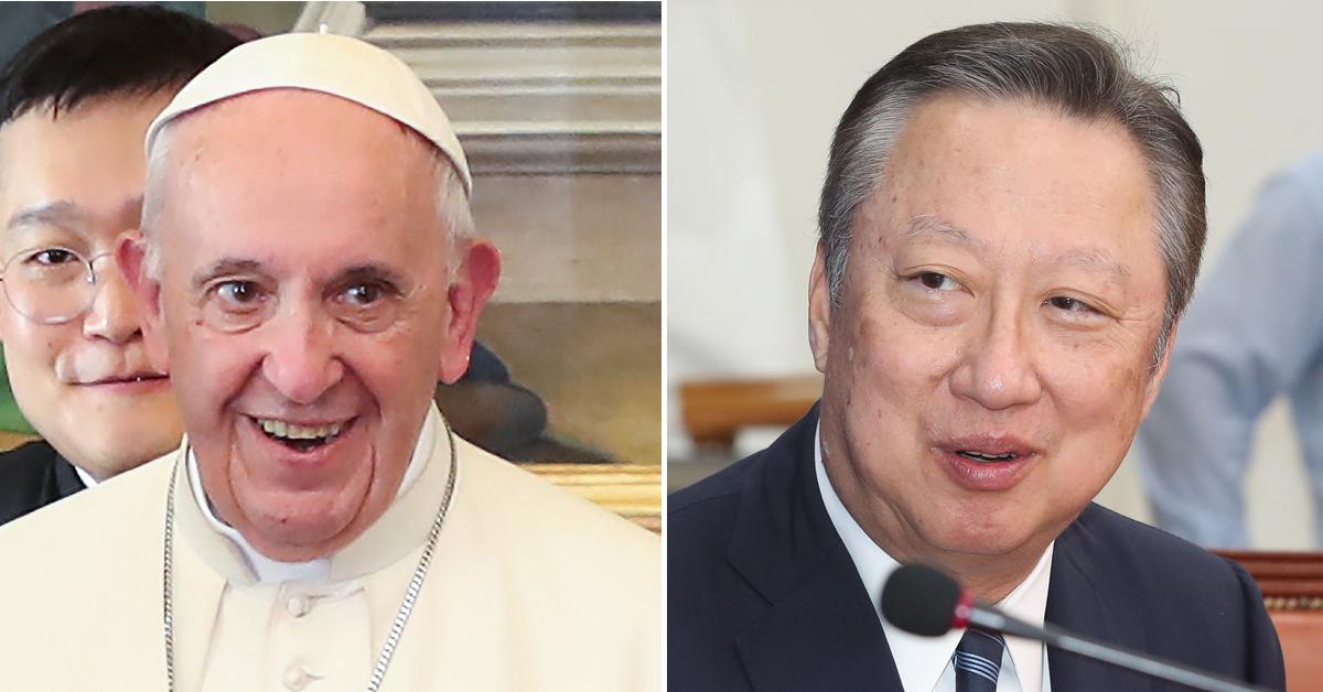 교황 만난 박용만 뒤에 붙은 의외의 직함, 몰타기사단