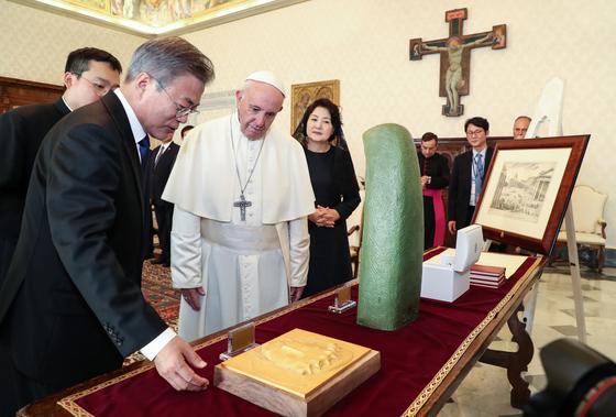 """교황 """"한반도 평화 프로세스 지지, 멈추거나 두려워 말라"""""""