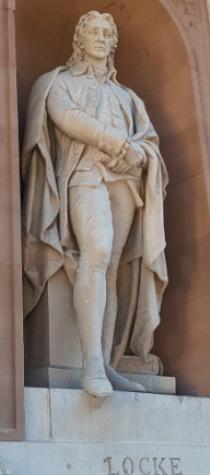 영국 철학자 존 로크 조각상(런던 왕립미술원).