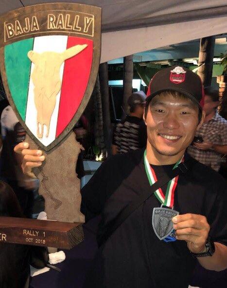 동양인 최초로 세계적인 경주대회 '바하랠리' 클래스 1에서 우승한 프로레이서 류명걸 선수. [사진 정주영 작가]