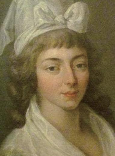 프랑스 대혁명에 참여한 마담 롤랑의 초상화.