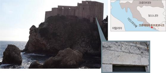 크로아티아 두브로브니크의 로브리예나츠 요새와 자유에 관한 글귀가 새겨진 성벽.