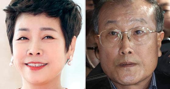 방송인 김미화씨(왼쪽)과 김재철 전 MBC 사장(오른쪽) [뉴스1], 우상조 기자
