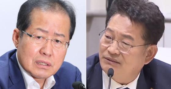 """홍준표, 송영길 겨냥 """"北, 가족 독살하고 총 쏘는데…가족주의?"""""""