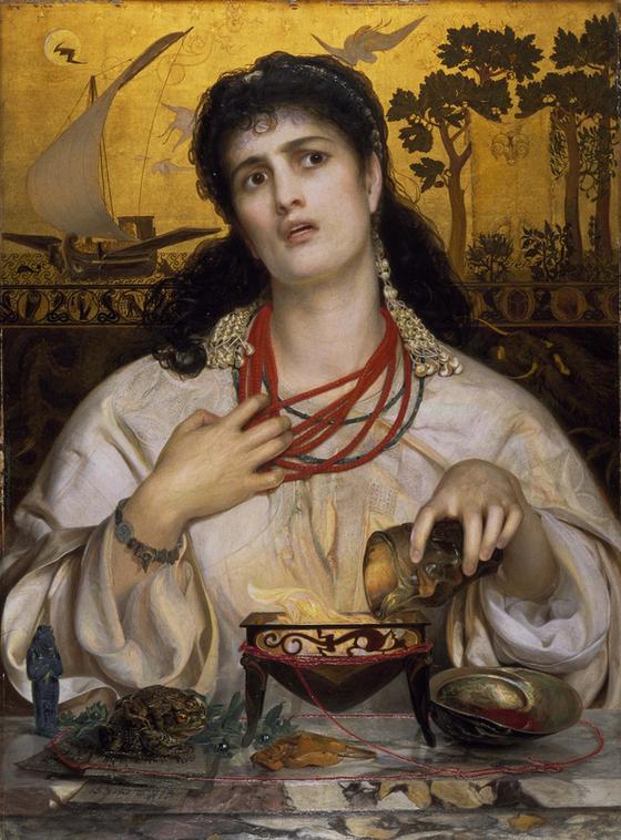 <메데이아(Medea) 1866-1868> 프레드릭 샌디스가 그린 메데이아. '정의란 무엇인가'를 묻는 작품이다. [출처 Birmingham Museums Trust]