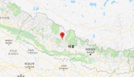 김창호 대원 일행이 희생된 네팔 구르자히말산. [구글 지도]