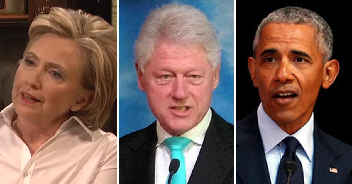 미국 민주당 출신 전직 대통령 클린턴 부부(왼쪽 사진부터)와 버락 오바마. [AP=연합뉴스, 유튜브 캡처]