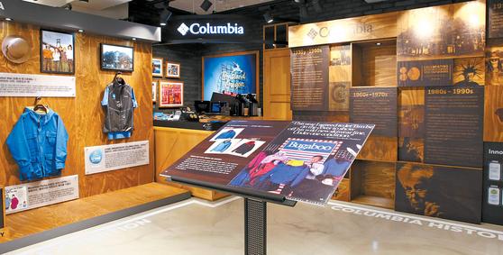 컬럼비아는 브랜드 론칭 80주년을 기념해 컬럼비아 가로수길 직영점에서 80주년 기념 전시회를 지난 21일까지 열었다. 컬럼비아의 80년 역사를 한눈에 볼 수 있는 것은 물론 혁신적인 기술력을 가진 헤리티지 제품도 전시했다. [사진 컬럼비아]